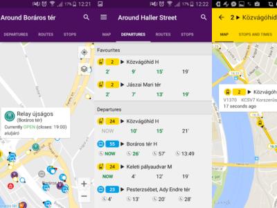 Мобильное приложение общественного транспорта в Будапеште