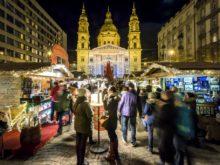 Рождественская ярмарка на площади Святого Иштвана