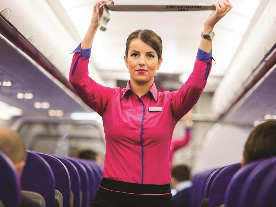 На борту лоукостера Wizz Air